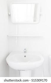 Modern design home bathroom basin and sanitary ware in the bathroom