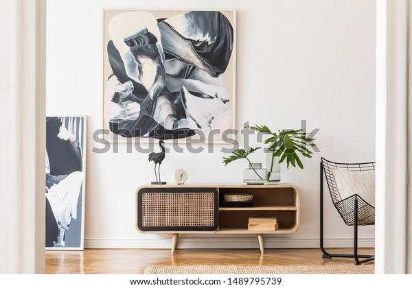 Conception Moderne Maison Interieur De Salon Photo De Stock Modifier Maintenant 1489795739