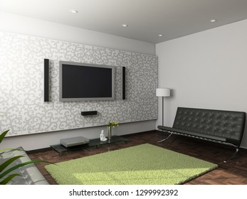 Modern design interior of living-room.