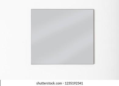 modern design minimalist black frame mirror