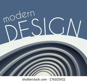 Modern design poster or cover with futuristic building