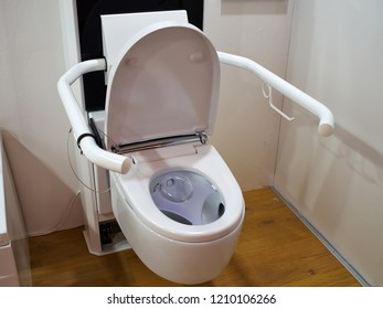 Modern design public handicapped toilet for people with disabilities in a hospital