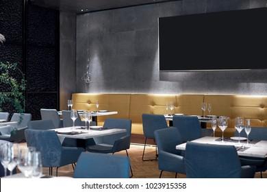 Modern design restaurant interiors