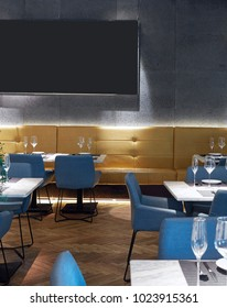 Modern design restaurant interiors