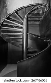 Modern design of spiral staircase