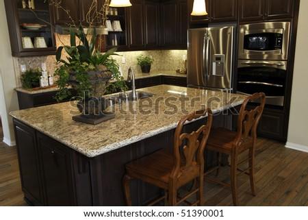 Modern Designer Kitchen Stainless Steel Appliances Stock Photo Edit Delectable Modern Designer Kitchen