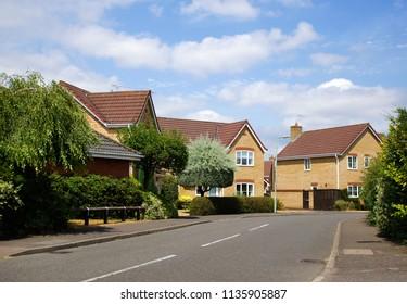 Modern detached homes in Bury St Edmunds, UK