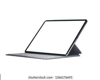 Modern device the tablet on isolated light background