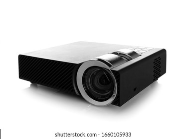 Modern digital video projector isolated on white