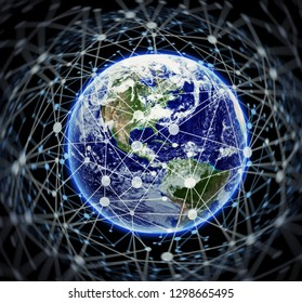 Modern, digital world - Elements of this image furnished by NASA