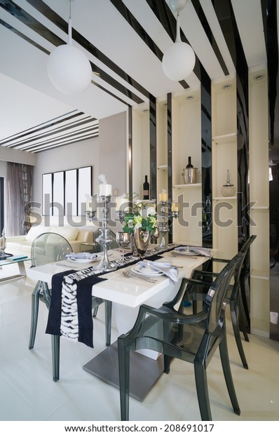 Modern Dining Room Nice Decoration Stock Photo (Edit Now ...