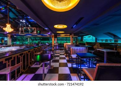 Modern discotheque interior
