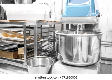 Modern dough mixer in bakery