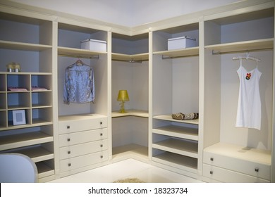 modern dressing room interior detail