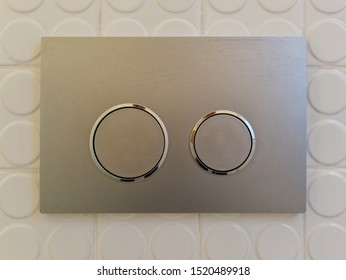 Modern Dual button for flushing in the bathroom