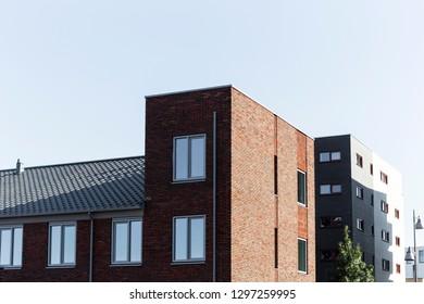 Modern dutch residential architecture in Apeldoorn centrum.