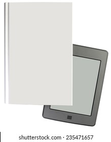 modern ebook reader with book