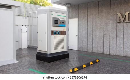 Modern electric car charging.