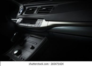 Modern electric car interior