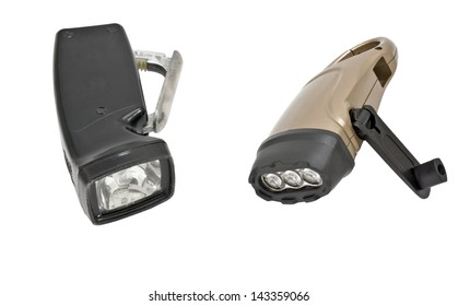 Modern electric torch on white background