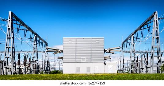 modern electricity power station
