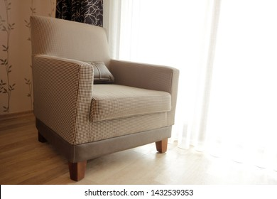 Modern and elegant armchair in the interior