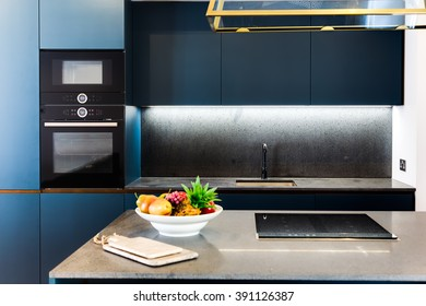 Modern Elegant Kitchen with Electronic Digital Oven and Hob