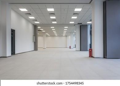 Modern empty business building indoors