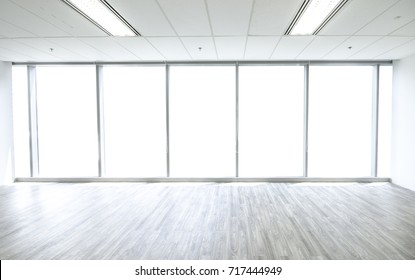 Modern Empty Room.Large window space Interior.