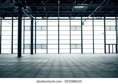 modern empty show room