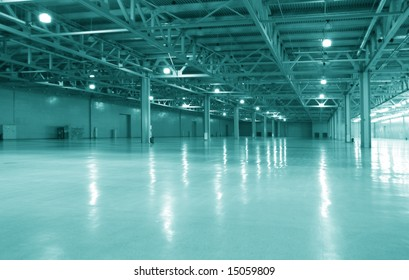 modern empty warehouse