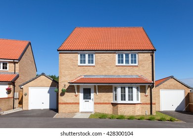 Modern english house with red roof