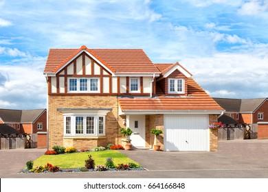 Modern english house view