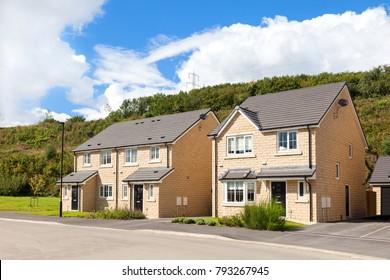 Modern english houses, english countryside