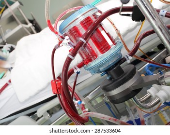 Modern equipment for oxygenation in a hospital in the patient's room