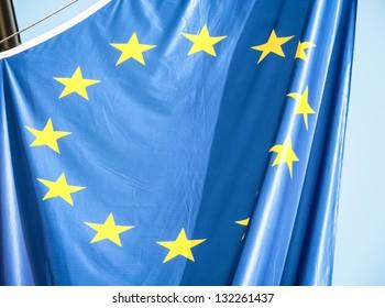 modern european flag  - photo