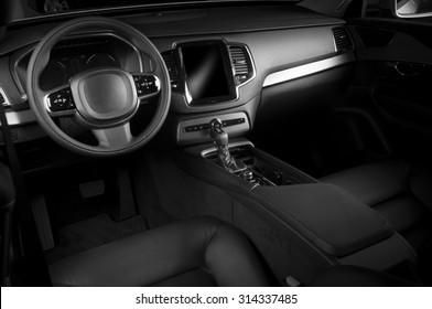 Modern european offroad car interior