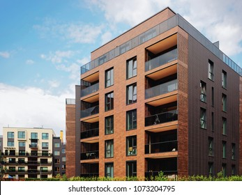 Modern European residential apartment buildings quarter. Other outdoor facilities.