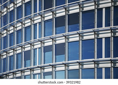 modern exterior abstract architectural background in blue