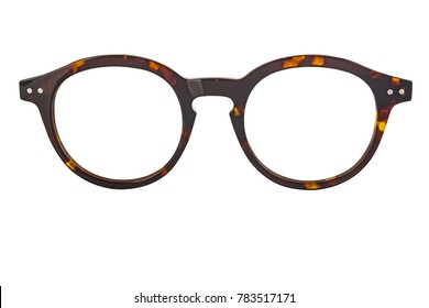 Modern eye glass isolated on white background
