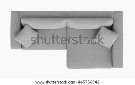 Modern Fabric Corner Sofa 2 Seat Stockfoto (Jetzt bearbeiten ...