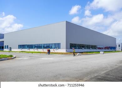 A modern factory building