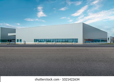 Modern factory buildings and warehouses