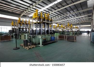 Modern factory workshop