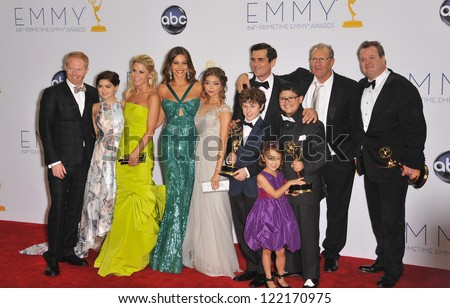 Modern Family cast & producers at the 64th Primetime Emmy Awards at the Nokia Theatre LA Live. September 23, 2012  Los Angeles, CA Picture: Paul Smith