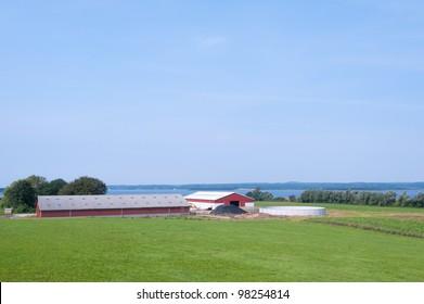 Modern farm on the island Moen, Denmark