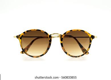 Modern fashionable sunglasses isolated on white background, Glasses