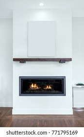 Modern Fireplace with copy space for Art.
