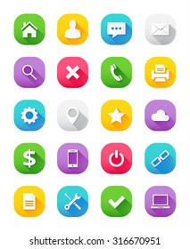 Modern flat Icons set for web and mobile apps. Isolated on white background