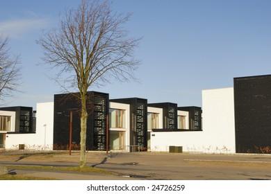 Modern flats, modern Danish architecture.